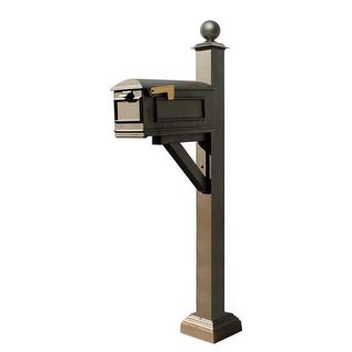 Westhaven System with Lewiston Mailbox, Square Collar & Large