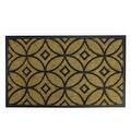 "Decorative Black Rubber and Coir Outdoor Rectangular Door Mat 30"" x 18"" - Thumbnail 0"