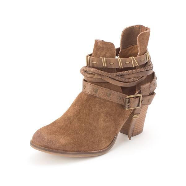 fd97299c76c Shop Naughty Monkey Womens NMLB0183 Leather Almond Toe Ankle Cowboy ...