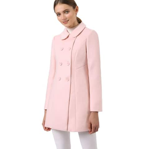 Women's Peter Pan Collar Double Breasted Trench Coat