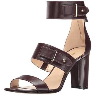 Nine West Womens Naxine Faux Leather Dress Sandals