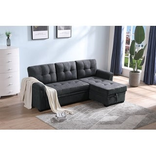 Link to Copper Grove Arogundade Woven Fabric Reversible Sectional Sofa Sleeper Similar Items in Living Room Furniture