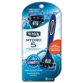 Schick Hydro 5 Disposable Razors 3 ea