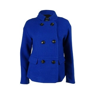 French Connection Women's Wool Blend Coat - Electric Blue