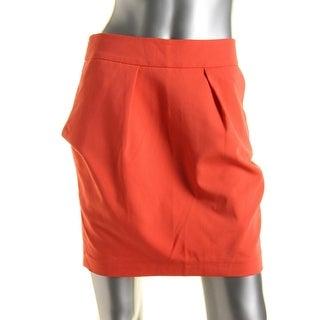 Zara Basic Womens Pleated Above Knee Pencil Skirt - M