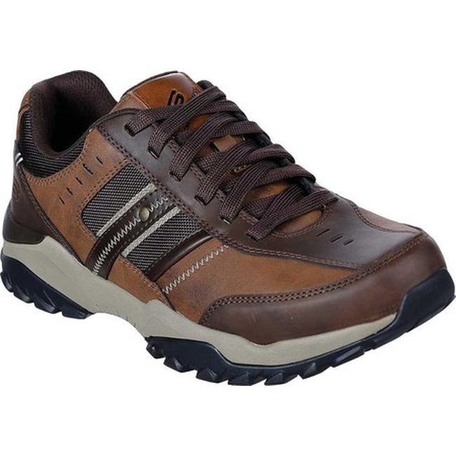 Skechers Men's Relaxed Fit Henrick Delwood Sneaker Brown