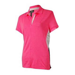 LRL Lauren Active Women's Colorblocked Split-Neck Polo - xL