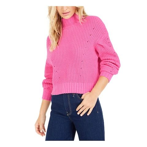 BAR III Womens Pink Long Sleeve Turtle Neck Sweater Size XL