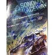 Signed NHRA Sonoma Nationals 13x19 poster by 35 of the the racers autographed