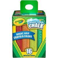Crayola Sidewalk Chalk 16/Pkg-Assorted Colors