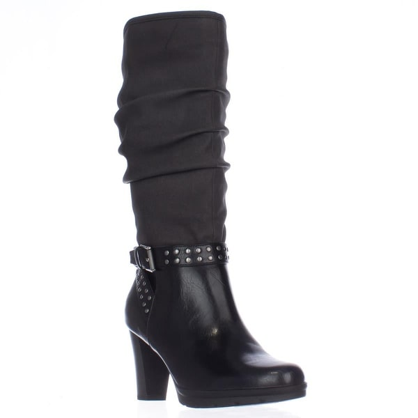 AL35 Kandace Mid-Calf Dress Boots, Black