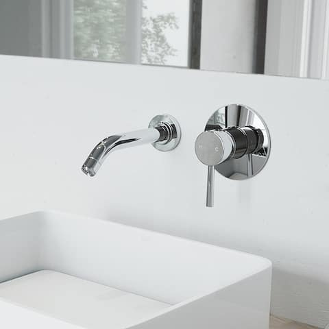 VIGO Olus Wall Mount Bathroom Faucet in Matte Brushed Gold