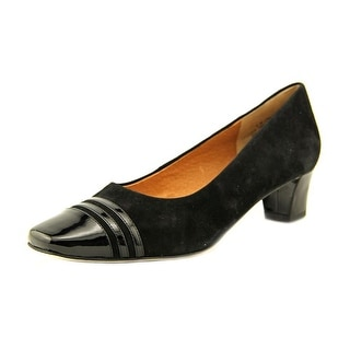 Auditions Classy Women  Square Toe Suede Black Heels