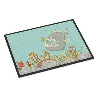 Carolines Treasures BB8536MAT Frog Fish Scene Indoor or Outdoor Mat - 18 x 27 in.