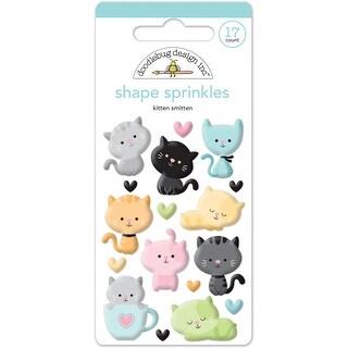 Doodlebug Sprinkles Adhesive Glossy Enamel Shapes 17/Pkg-Kitten Smitten Shapes
