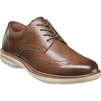 Nunn Bush Men's Maclin Street Wing Tip Oxford Brown Multi Leather