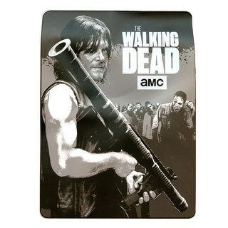 "Walking Dead Daryl Dixon Bazooka 45"" x 60"" Micro Mink with Sherpa"