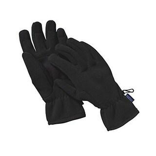 Patagonia Mens Synch Gloves, Black, L