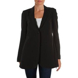 Theory Womens Geltha Open Back Notch Collar One-Button Blazer - 4