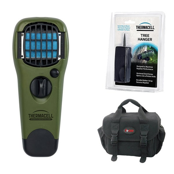 ThermaCELL Mosquito Repellent Device (Olive) and Tree Hanger, with Refills