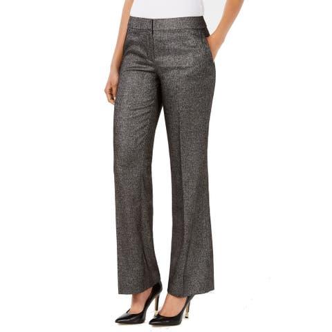 Nine West Womens Dress Pants Gray Size 8 Straight Leg Stretch Trousers