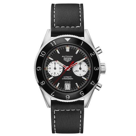 Tag Heuer Men's CBE2118.FC8246 'Autavia Heritage' Chronograph Black Leather Watch