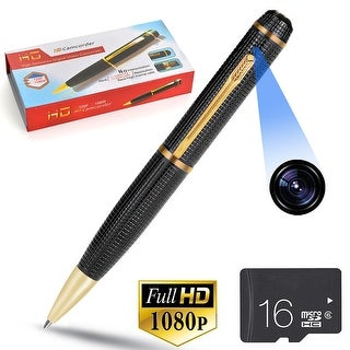 AGPtek Spy Pen Camera 1080p FULL HD USB Nanny Video/Voice Hidden Recorder Camera 16G
