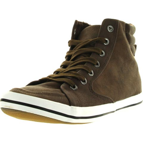 Arider Mens Ar5011 Fashion Classic High Top Lace Up Sneaker Comfort Casual - Brown