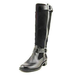 Aerosoles Ride Line Women  Round Toe Canvas Black Knee High Boot
