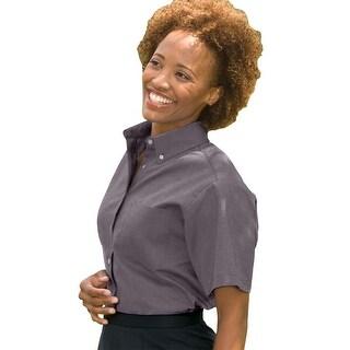 Women's Short Sleeve Dress Button Down Oxford