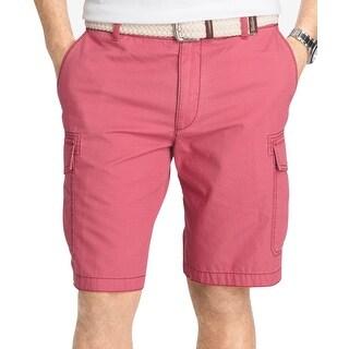 IZOD Saltwater Mens Cargo Pocket 10.5 Inseam Shorts