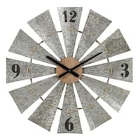 "Aspire Home Accents 5957 29"" Marcel Metal Analog Wall Clock - gray"