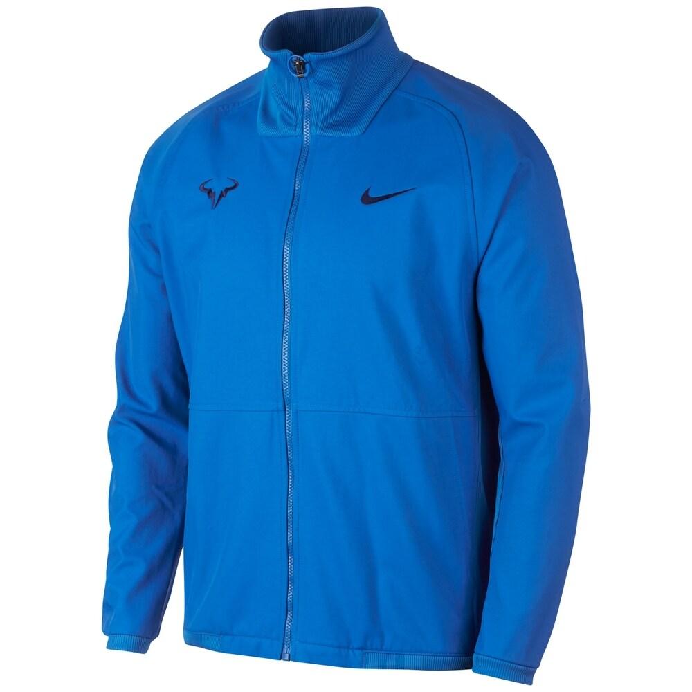 Shop Nike Mens Jacket Blue Size Xl Zip Front Ribbed Hem Rafael Nadal Tennis On Sale Overstock 30029218