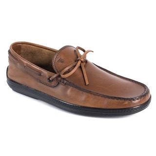 86a9ac3bd69 Shop Tod's Men's Solid Brown Leather Driving Moccasins - Free Shipping Today  - Overstock.com - 20114092