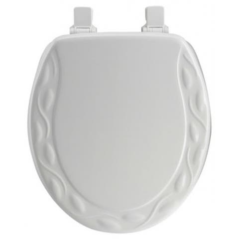 Mayfair 34EC-000 Round Molded Wood Toilet Seat w/Easy-Clean & Change Hinge, White