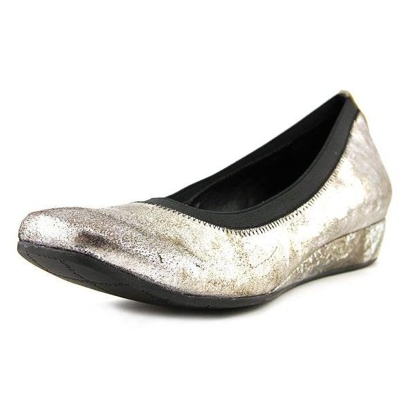 Vaneli Grassy  N/S Open Toe Leather  Wedge Heel