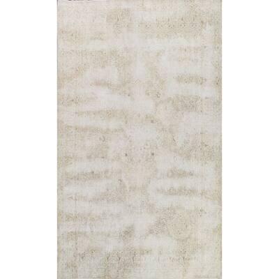 "Muted Distressed Floral Kerman Persian Area Rug Handmade Wool Carpet - 9'6"" x 12'6"""