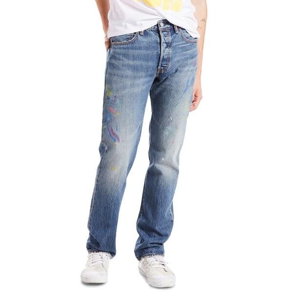 e9fda60a0de Shop Levi's Blue Mens Size 33X32 501 Button Fly Straight Leg Jeans ...