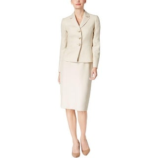 Le Suit Womens Skirt Suit 2PC Tweed