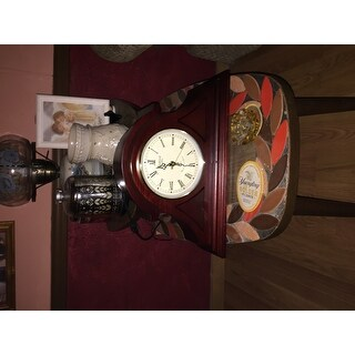 Bedford Clock Collection Redwood Mantel Clock with Chime