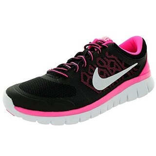 Nike Kids Flex 2015 Rn (Gs) Black/White/Pink Pow Running Shoe 6.5 Kids Us - 6.5 m us big kid