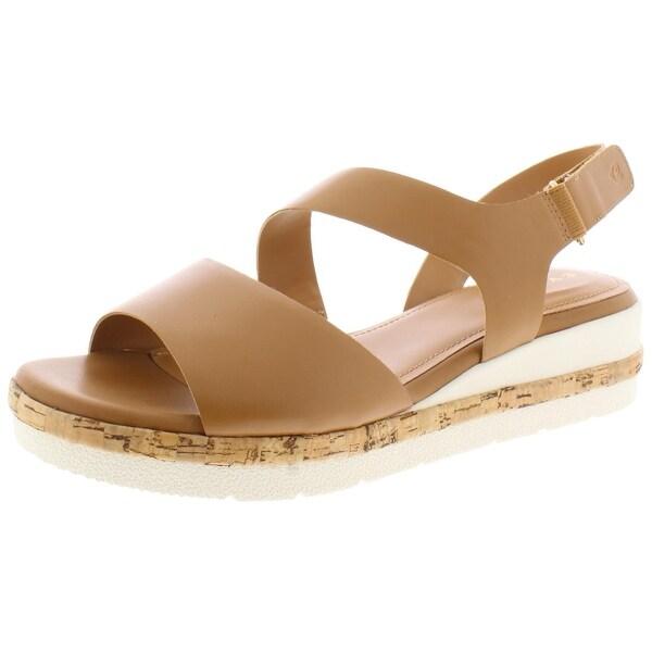 Womens Kea Wedge Sandals Leather Cork