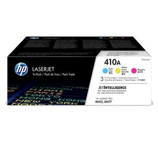 HP 410A Cyan/Magenta/Yellow Toner Cartridge - 3-Pack Cartridge
