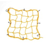 Unique Bargains Truck Motorcycle Bike Equipment Cargo Luggage Mesh Bungee Net Yellow 9cm x 9cm