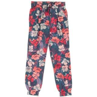 Juicy Couture Black Label Womens Silk Floral Print Harem Pants - XL