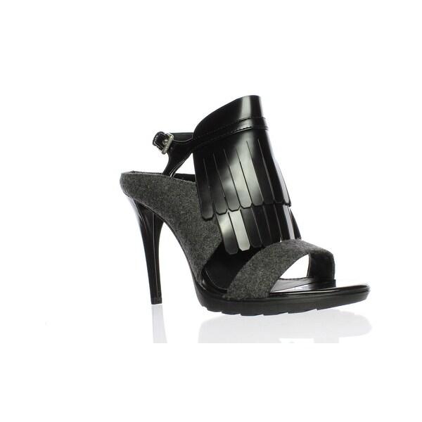 d31ba2eca86a Shop Calvin Klein Womens 34E2912-Clz Charcoal Black Open Toe Heels ...