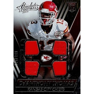Signed Thomas DeAnthony Kansas City Chiefs DeAnthony Thomas 2014 Absolute Footbal Unsigned Quad Jer