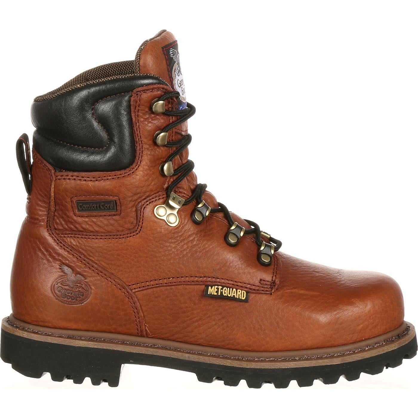 Georgia Boot Drill Dog Steel Toe Metatarsal Work Boot Black and Brown