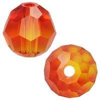 Swarovski Crystal, 5000 Round Beads 6mm, 10 Pieces, Fire Opal