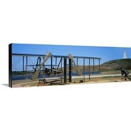 Premium Thick-Wrap Canvas entitled Wright Flyer sculpture at Wright Brothers National Memorial, North Carolina
